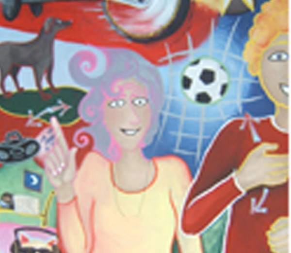 'What Excites You?' mural