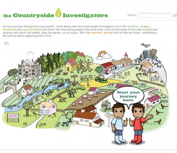 Illustrations for Countryside Alliance's website