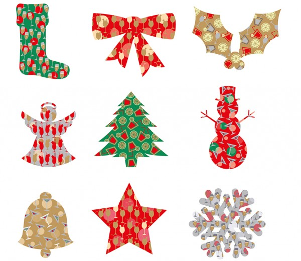 Christmas decorations for cocktail bar chain